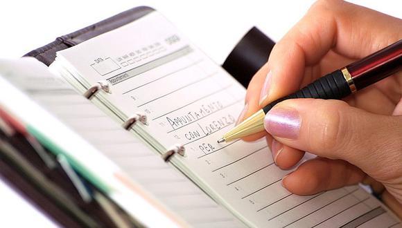 Ventajas de utilizar agendas de papel