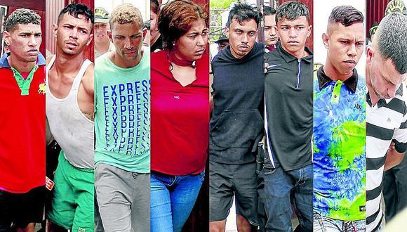 """Así capturó la PNP a integrantes de la banda """"Los maruchos de Venezuela"""" (VIDEO)"""