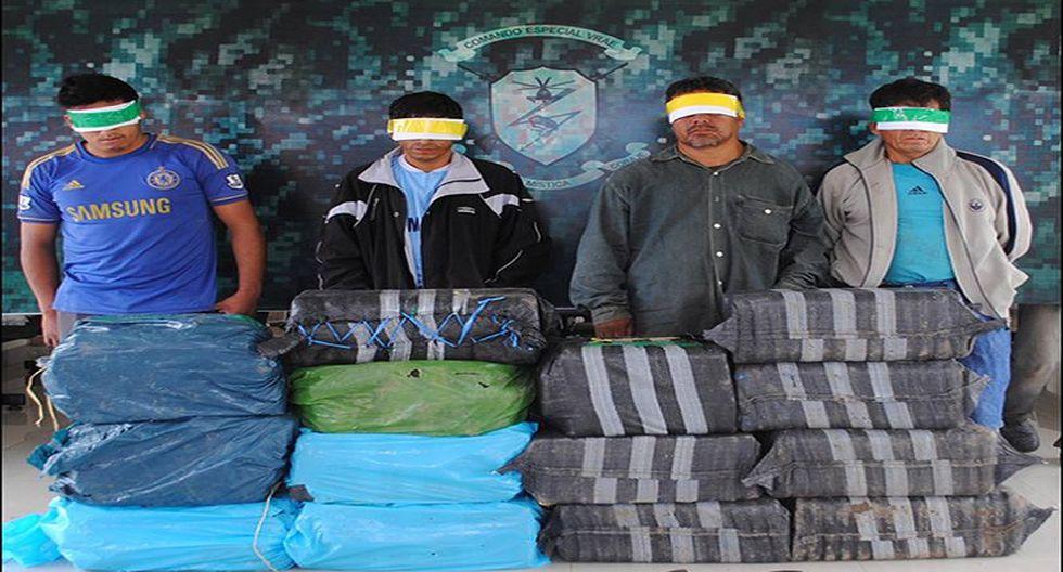 Vraem: Incautan más de 400 kilos de droga