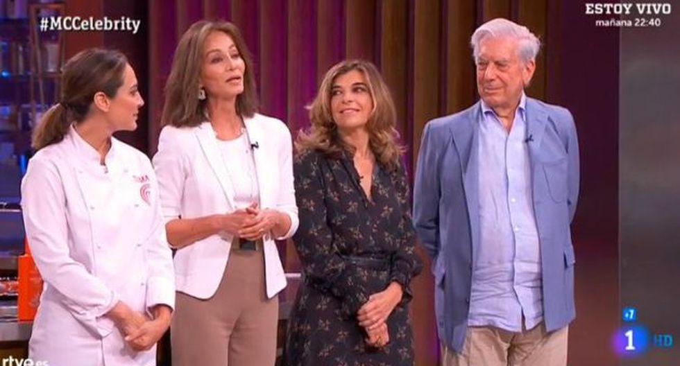 Mario Vargas Llosa e Isabel Preysler asistieron a reality de cocina. (Imagen: TVE)