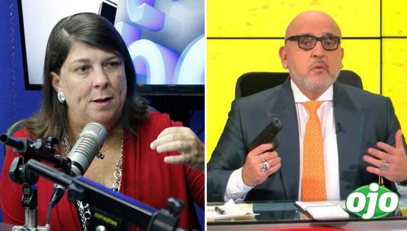 Rosa María Palacios cuestiona a Beto Ortiz por sacar pistola en vivo