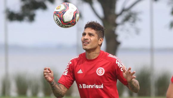 Paolo Guerrero reapareció con Internacional en el Brasileirao. (Foto: @SCInternacional)