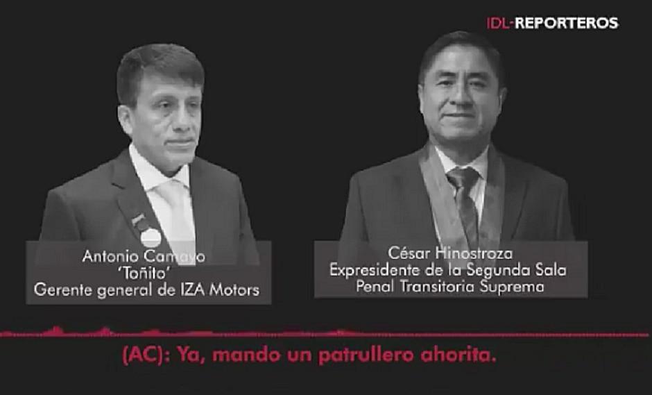 Antonio Camayo le ofreció a César Hinostroza enviar un patrullero a su casa (AUDIO)