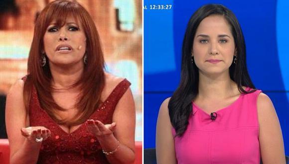 """Magaly Medina da """"con palo"""" a Sigrid Bazán: """"hay personas que no expresan nada en TV"""""""