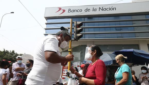 Banco de la Nación. (Foto: Jesus Saucedo / GEC)