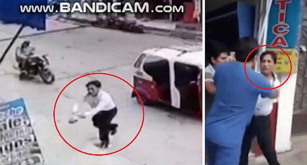 Funcionario municipal intenta quemar vivo a dueño de restaurante | VIDEO