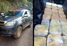 Puno: tres sujetos abandonan 30 paquetes con PBC dentro de camioneta
