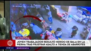 Joven trabajador resultó herido tras frustrar asalto en La Victoria