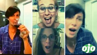 """""""¡No estoy ebria!"""": Almendra Gomelsky se cae al piso durante transmisión en vivo con  Rebeca Escribens, Katia Condos y Gianella Neyra"""