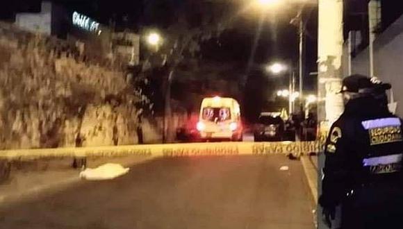 Arequipa: conductores que protagonizaron los accidentes se dieron a la fuega.