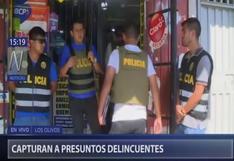 Los Olivos: Detienen a tres delincuentes que pretendían asaltar agente bancario | VIDEO