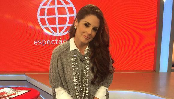 Rebeca Escribens vuelve a la televisión y deslumbra con vestido rojo [VIDEO]