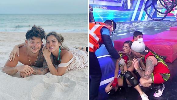 Korina Rivadeneira se enfrentaba a Allison Pastor cuando sufrió el accidente. (Composición: Instagram / captura América TV)
