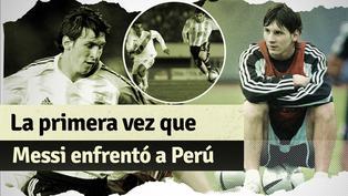 Así fue el primer partido de Messi ante Perú por Eliminatorias