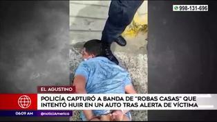 PNP capturó a banda de robacasas  en El Agustino