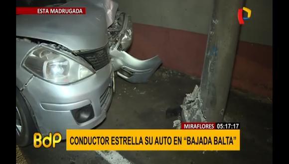 Al momento del accidente, los sujetos se habrían estado dirigiendo a su centro de labores. (Foto captura: Buenos Días Perú)