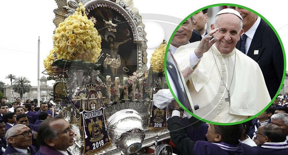 Papa Francisco envía saludos a peruanos por procesión del Señor de los Milagros