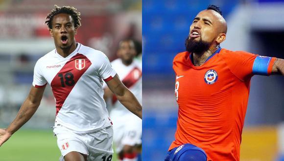 Perú vs. Chile EN VIVO: jugarán en el Estadio Nacional de Santiago por la fecha 3 de las Eliminatorias sudamericanas Qatar 2022. (Fotos: AFP)