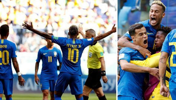 Brasil se impone a Costa Rica con 2 goles a 0 y sueña con pasar a octavos (FOTOS)