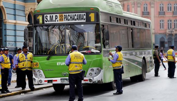 Atención choferes de Lima y Callao: Se vienen operativos