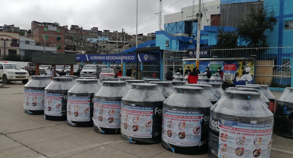 Pasco: Instalarán 7 tanques cisterna para abastecer de agua a todo un asentamiento humano. (Foto: Gobierno Regional de Pasco)
