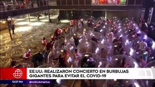 """The Flaming Lips"" realiza concierto en burbujas gigantes para mantener distanciamiento social"