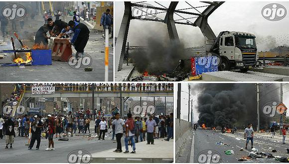 Puente Piedra: cinco detenidos deja violenta protesta y la MML responde así (FOTOS Y VIDEO)