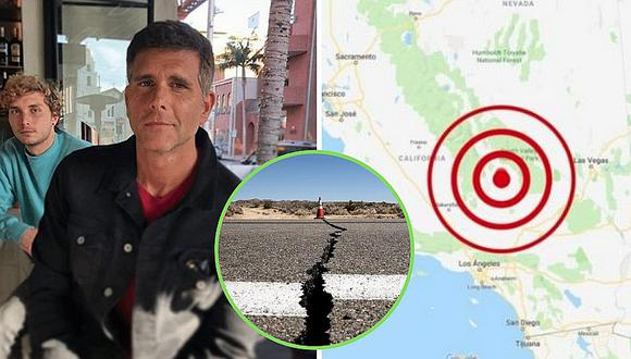Christian Meier comparte video tras vivir terremoto de magnitud 7,1 en California