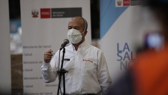 Víctor Zamora informó que no se reportaron cambios en la tendencia a la baja de casos del nuevo coronavirus en el país.  (Foto: Anthony Niño de Guzman / GEC)