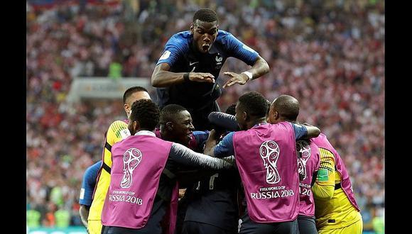 Francia se impone y le gana por 4-2 a Croacia en la gran final de Rusia 2018
