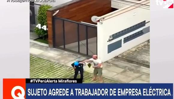 La agresión ocurrió en la cuadra 4 de la avenida General Córdova. (TV Perú)