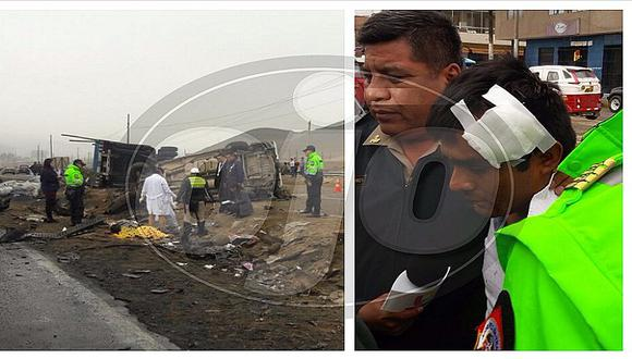 Ancón: tres muertos deja feroz choque de tráiler contra minivan (VIDEO)