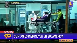 Coronavirus en Sudamérica: Contagios de COVID-19 disminuyen