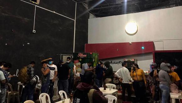 Piura: intervienen a más de 50 personas consumiendo bebidas alcohólicas en un bar (Foto: Municipalidad Sullana).