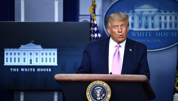 El presidente de Estados Unidos, Donald Trump, aseguró que buscará se vuelva a sancionar internacionalmente a Irán. (Foto de Brendan Smialowski / AFP)