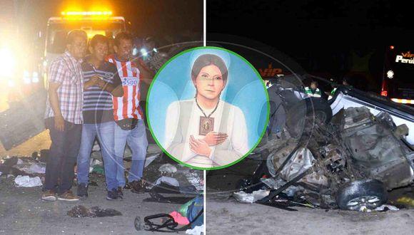Parientes de la beatita Melchorita mueren al despistarse camioneta y chocar con bus