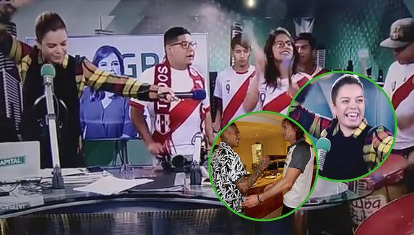 Milagros Leiva 'arma la fiesta' en cabina de radio por Paolo Guerrero (VIDEOS)
