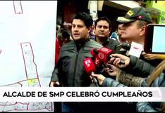 Denuncian que alcalde de San Martín de Porres celebró cumpleaños con una reunión masiva en plena pandemia