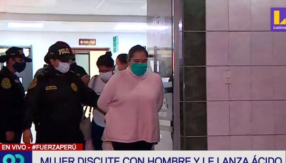 Floriza Andrade Ipinze (47) es acusada de agredir con ácido muriático a su expareja, José Luis Nestare Aliaga (52). (Latina)