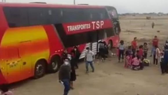 Lambayeque. Bus interprovincial embiste violentamente a mototaxista en carretera Panamericana Norte Antigua, en el distrito de Jayanca.