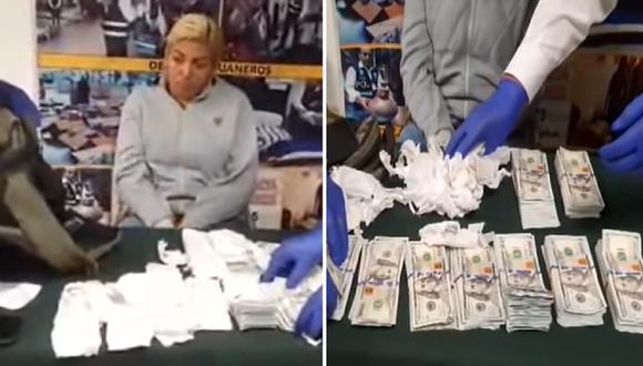 Capturan a venezolana que pretendía sacar del Perú más de 80 mil dólares falsos | ATV