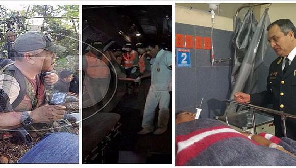 Vraem: policías heridos en enfrentamiento con narcoterroristas ya están en Lima (VIDEOS)