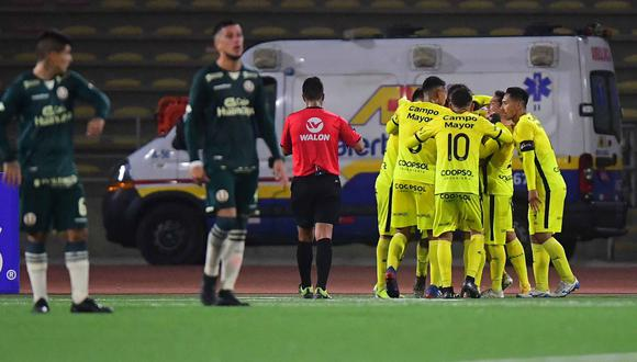 Universitario no pudo con Coopsol y perdió 1-0 en el estadio San Marcos. (Foto: Liga de Fútbol Profesional)