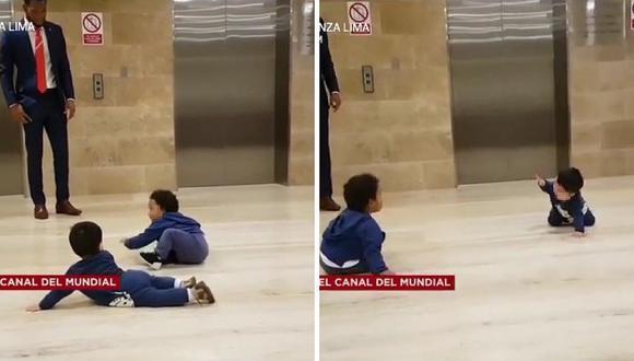 Bebés de Pedro Gallese y Carlos Cáceda enternecen durante concentracion (VIDEO)