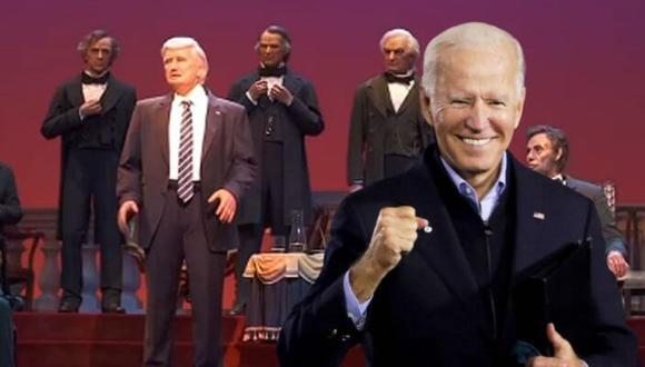 En agosto, la figura del presidente estadounidense estará en el centro de la escena rodeada de las de sus antecesores en la Casa Blanca.