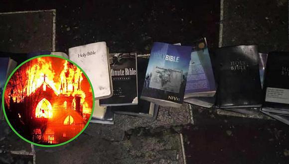 Incendio arrasa con iglesia, pero las Biblias quedaron intactas