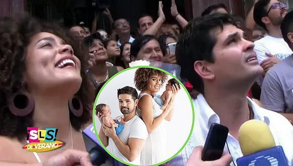 Esposa de Ferdinando Valencia responde tras críticas por sonreír en el funeral de su bebé | VIDEO