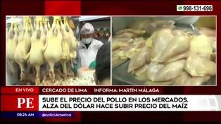 El precio del pollo en mercados mayoristas continúa en alza tras incremento del dólar