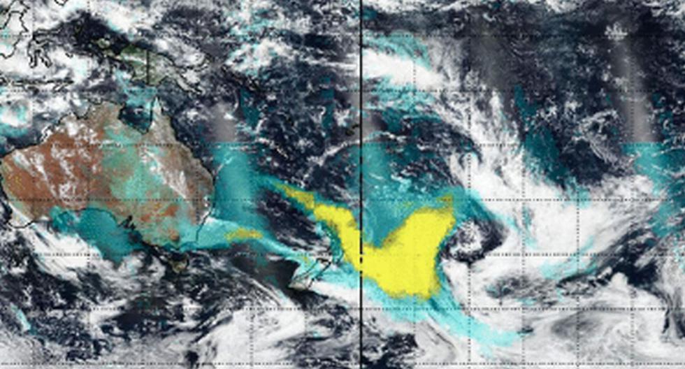 """""""Durante la semana pasada, los satélites de la NASA han observado una cantidad extraordinaria de humo inyectado en la atmósfera desde los incendios australianos y su posterior dispersión hacia el este"""", agregó la NASA. (Foto: Captura - NASA)"""