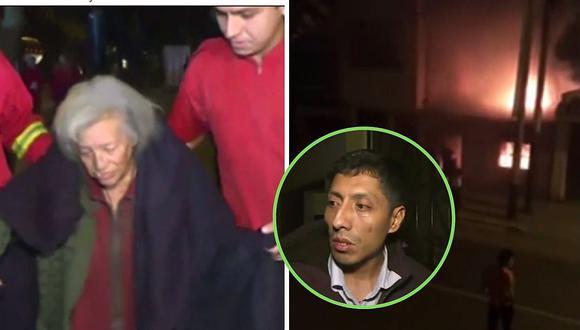Abuela casi muere en incendio de su casa en Chorrillos donde estaba encerrada | VÍDEO